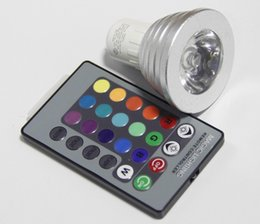 New arrival 3W LED RGB Bulb 16 Color Changing Spotlights RGB led Light MR16 GU5.3 with 24 Key Remote 85-265V