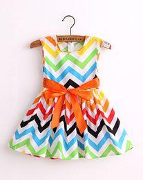 Wholesale new fashion cotton print girl dress baby girls princess dresses children clothes vestidos QZ