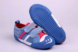 Wholesale NEW Flats Shoes Kids Sneakers Children Shoes Canvas Smiley Casual Cotton Cloth Pedal Boys Girl Child Sport Shoes