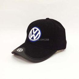 Wholesale F1 automobile race hat Vw das auto cotton baseball cap hat dark blue colours Souvenir Caps