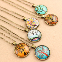 38 styles Necklaces Pendants Sweater Chain Men Lady Girls Favor European Style Fashion Retro Peandant Necklace Various Tree Of Life Pattern