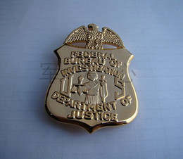 Wholesale The United States investigation Badge Copper Money Clip FBI Metal Badges With Money Clips Functions