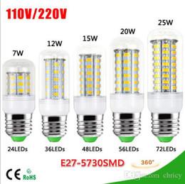 2017 e27 ce smd Nouveautés 2015 1pcs SMD 5730 12W E27 7W 15W 20W 25W lampe LED 220V 110V 24 36 48 56 72 LED ampoule de maïs Lustre de lumière pour l'éclairage CE RoH e27 ce smd ventes