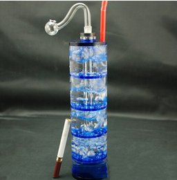 Wholesale Five layer filter Features with lamp glass filter pot and glass water pipes