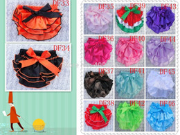 Wholesale-wholesale cute satin baby diaper covers bloomers summer Ruffle Bloomer with ribbon toddler Ruffle Bottom Sassy Pants 100pcs lot