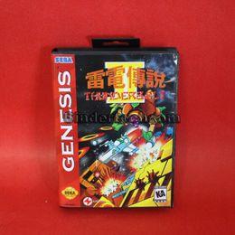 Wholesale DC MD SS SEGA Memery Cards Thunderbolt II bit MD Game Card With Retail Box For Sega Mega Drive For Genesis