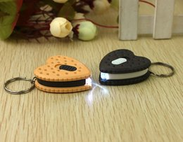 Wholesale Night market supply Yiwu Small Commodity pendant square smiley keychain with light biscuit stall Cheap cartoon