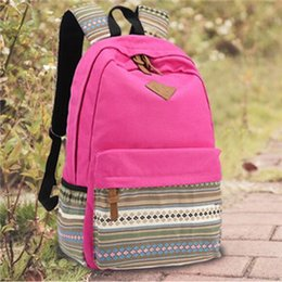 Wholesale Kid Backpacks For School Korean - 2016 retailed Korean Stylish summer kids backpack Canvas schoolbag Travel bag for boys and girls middle school students B57