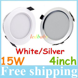 High Power 15W Led Recessed Downlights 120 Degree Warm Cool White Dimmable Led Ceiling Lights 110-240V With Driver Free Shipping