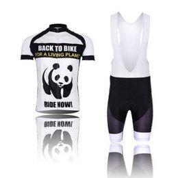 Wholesale-XINTOWN New 2015 Panda Team Men Short Sleeve Outdoor Cycling Jerseys MTB Bicycle Bike Clothing Ropa Ciclismo + Bib Shorts Kits