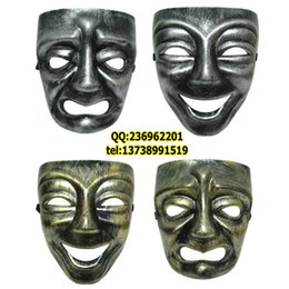 Wholesale Factory direct sale masks Funny mask dance performances mask plastic cartoon mask ancient Greek Dionysian cry Smile Face