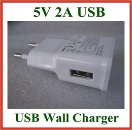 Wholesale 300pcs USB Wall Charger V A EU US Plug AC Travel Adapter for Galaxy Note N7100 N9000 S3 S4 S5 I9600 Power Supply High Quality