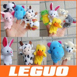 Wholesale 2014 Old Macdonald had a farm toys Baby Plush Toy Cartoon Animal Finger Puppet finger doll baby dolls Animal doll DHL