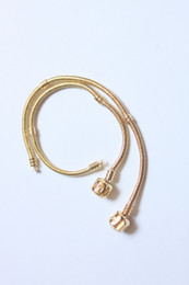 Wholesale free shipping - with Pandora words agio 16-20 mm long true gold plating bracelets (color can be up to one year)