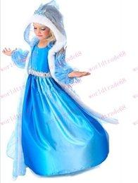 Brand New Christmas frozen elsa blue frozen hooded clothing hooded cloak clothing frozen dress elsa frozen frozen elsa princess Dresses