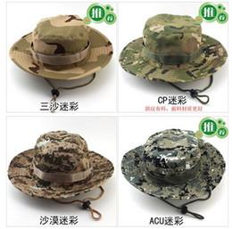 2017 cap arrondi pour les hommes Pêche Mode Pliable Boonie ronde Hat Camouflage Jungle Cap Camping Alpinisme Outdoor Hat Summer Bucket Hat pour les hommes et les femmes promotion cap arrondi pour les hommes