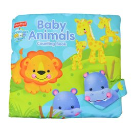 Wholesale Animal Counting Book Tearproof Color Picture D Cloth book baby Book early eduction development toy cm