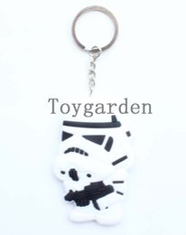 Wholesale 2015 Star Wars Action Figures Metallic Keychain CM Stormtrooper Black and White Collections New Arrival Toy Best Gift