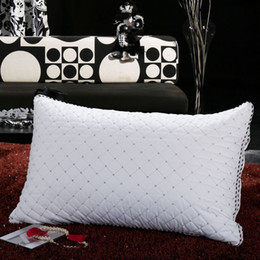 48cm x 74cm Fashion Stereo Protect Cervical Pillow Breathable Fluffy To Help Sleep Anti-mite Velvet Feather Pillow