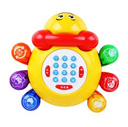 Wholesale hot selling news toys novelty Children s early education educational enlightenment Lady beetle music baby music toy telephone