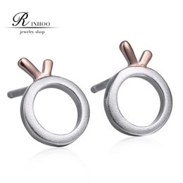 Wholesale 2015 fashionable restore ancient ways of silver earrings Sweet and pure and fresh orange shape earrings charm women double color earrings