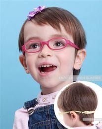 Babys Glasses Frame with Strap Regular Lenses Size 40 15, No Screw Safe Bendable, Boys Girls Infant Eyeglasses with Cord