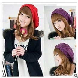 Wholesale Winter knitted hat big bud Hemp flowers Baltic spherical knitted cap