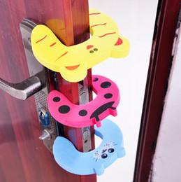 Home cartoon security door stop doors child safety door card hand clip security door card window clip baby clip CYB19