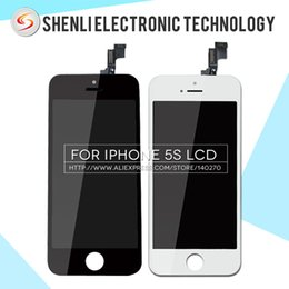 Wholesale-10PCS LOT OEM For iPhone 5S LCD With Touch Digitizer 100% Tested Screen Replacement Free DHL Ship