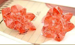 red crystal flower lady's earings (2*2cm) (myyhmz)