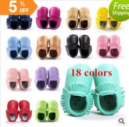 Baby shoes genuine leather first walker shoes 0-1 boys girls baby moccasins infant shoes lot baby soft leather baby moccasins bow newborn BY