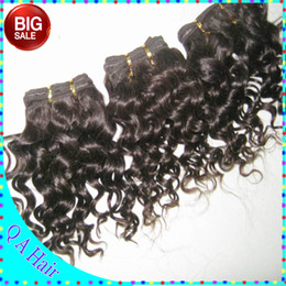 Wholesale BIG Discount Amazing factory price human brazilian hair deep curly texture inch short inch