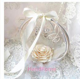 Wholesale Western style wedding flower basket ring plate of the European and American creative flower ring pillow up ring box wedding