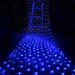 Promotion rgb led net Fée Parti gros-200 LED Net Light cordes Mariage Décoration Lampe de Noël