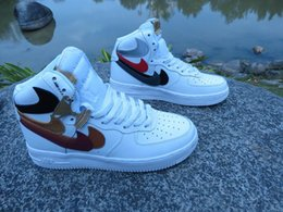 Wholesale High Nike Air Force Misplaced Checks John Geiger Shoe Surgeon basketball boots high quality men s Athletic shoes