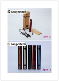 Wholesale 1pcs Original Kanger Ipow mAh EGO Battery Kanger Ipow II with OLED Screen Micro USB Charger Kanger battery