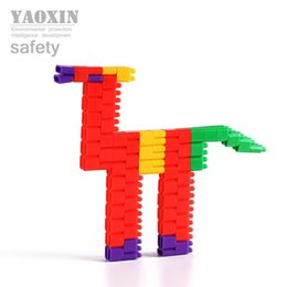 Wholesale kids The shape of Bullet multi color building blocks toys baby early education learning Creativity toys for year old