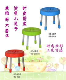 Wholesale Stainless steel bench in fashion shoes low stool plastic stool assembly fishing children simple square stool stool thickening