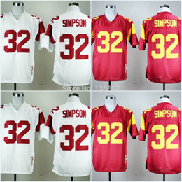 Factory Outlet- #32 O.J. Simpson,USC Trojans NCAA College Football Jerseys,2014 New Throwback M&N Cheap Jersey,Embroidery logos,Free Shippin