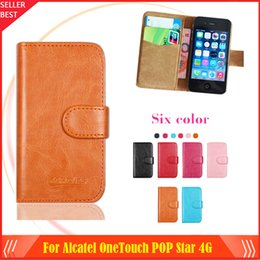 New arrrive 6 Colors Alcatel OneTouch POP Star 4G Phone Case Ultra thin Dedicated Leather Protective Cover Case SmartPhone with Tracking