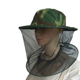 Wholesale Camouflage Stocking Hats - Practical Camouflage Field Jungle Mesh Face Mask Cap Mosquito Bee Bug Insect Fishing Hat #22867