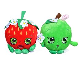 Wholesale 30pcs cm Shopping Plush Doll Toy Cartoon Fruit Stuffed Toy Cookie Strawberry Kiss Apple Hot Toys For Children Birthday Gift Fruit Toy