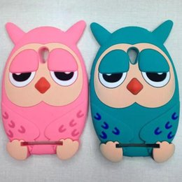 Wholesale ZenFone Case D Cute Cartoon OWL Owls Soft Silicone rubber Case Cover For ASUS ZenFone mobile phone Protective Case Cover