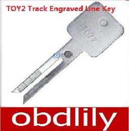 Wholesale 20pcs Original Lee TOY2 Track Engraved Line Key scale shearing teeth keymbo key mold car key locksmith tools supplies