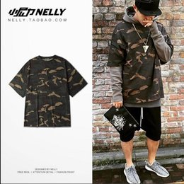 Big talker Kanye WEST spot Season 1 men and women lovers camouflage loose short sleeve T-shirt