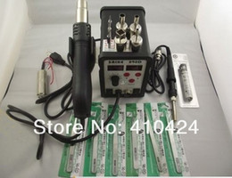 Wholesale Saike D BGA SMD Rework Soldering Station HOT AIR GUN Solder Iron in1 tips heating core tweezers