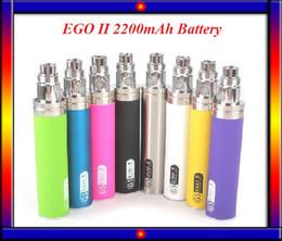 Wholesale eGo II mAh KGO ONE WEEK mah huge capacity battery electronic cigarette eGo mAh fit ego atomizers VS Vision Spinner