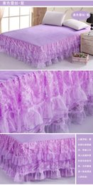 Wholesale Pastoral Lace Bed Skirt fitted sheet Simmons Princess lace bedspread bedspread