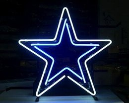 2017 panneaux de cowboy Football américain Dallas Cowboys Star Neon Sign Light Signe en verre véritable Tube Jeu d'équipe Sign Bar Discothèque KTV Motel Disppay Adertisement 15
