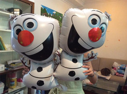 Wholesale Frozen Olaf Party Foil Helium Balloon Birthday Party Wedding Decoration Supplies Kids Gift Aluminium Coating Toy